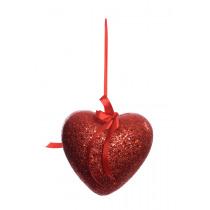 Coeur 19,5cm Rouge A Ruban