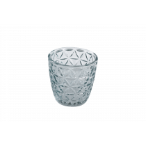 Theelichthouder 7,5cm mint 7,3cm Diameter Reliëf Crystallook