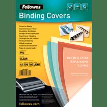 Schutblad Fellowes Transparant Omslag Plastic A4 100 Stuks