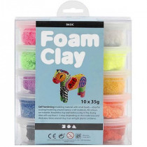 Foam Clay Basic Assortiment 35g 10 Dozen