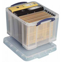 REALLY USEFUL BOX 35l TRANSPARANT