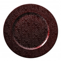 Assiette Bordeaux 33cm Diamètre Glitter Spray