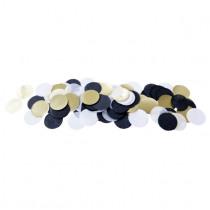 Confetti 2,5cm diameter 25g Zwart/Goud/Grijs