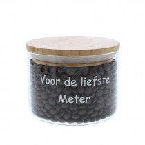 Bokaal Glas + Bamboe 9cm 11cm Diameter Voor De Liefste Meter