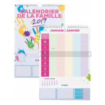 Brepols Familieplanner FR Kalender 370x250mm 5 Gezinsleden