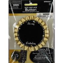 Button Gold Sparkling Celebrations 7,5cm