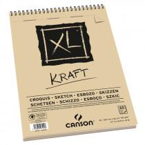 Canson Album xl Kraft 60 Vellen 90g/m² A4 Spiraal