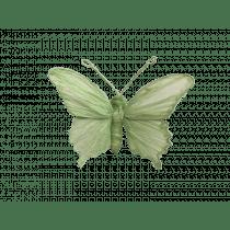 Clip 12x9x3,5cm Vert Clair Papillon Papier