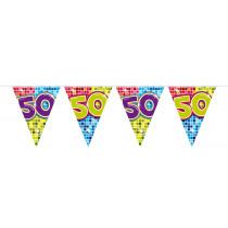 Vlaggenlijn Birthday Blocks 50 Jaar 6m