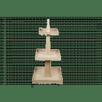 Presentatie 3 Verdiepen 35x35x70cm Naturel Hout