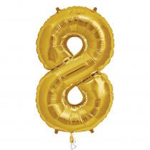 Ballon Folie 86cm Goud '8'