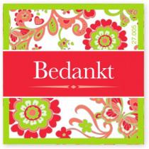 Wensetiket Bedankt Bloem NL 18 Stuks