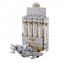 Confetti Popper 30cm Zilver Foil Strips