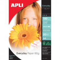 Fotopapier 10X15Cm Apli 180G/M² Glossy Inkjet 20Vellen