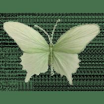 Hangdeco 50x35x6cm Lichtgroen Papier Vlinder