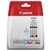 Canon Cartridge Zwart + Tricolor Cli571