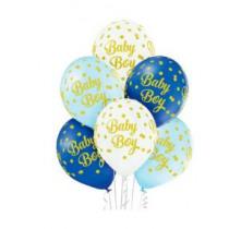 Ballon 30cm Blauw Baby Boy 6 Stuks