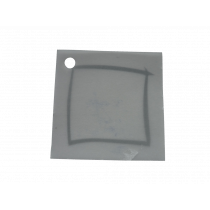 Naamkaartje 4X4Cm Kalk Zilver Kader 100 Stuks