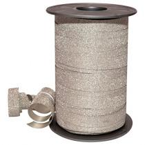 Lint 100mx10mm Zilver Polyglitter