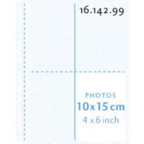 Henzo Fototassen Transparant 10X15 Verticaal 10Stuks