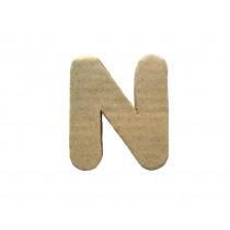 Letter N 7x8cm Papier Maché