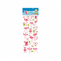 Fun Stickers Pink Flamingos