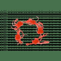 Guirlande Avec 5 Coeurs 154x9cm Rouge Velours