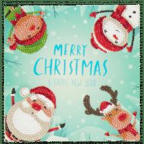 Crystal Card Kit Kerstmis Karakters