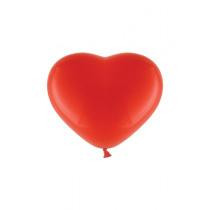 Ballon Pastel 30cm Rood Hart 50 Stuks