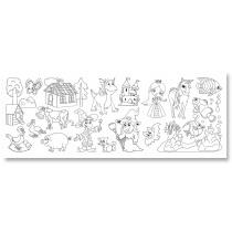 Tekenpapier Op Rol 4m x 30cm Folia Dessin / Zelfklevend