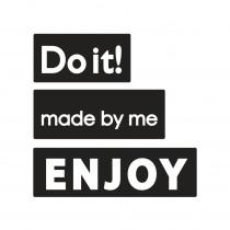 Label Do It / Made By Me / Enjoy 3 Stuks