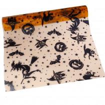 Tafelloper Halloweenprint 5mx28cm Oranje/Zwart