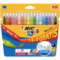 Bic Kleurstiften Kid Couleur 14+4 Stuks