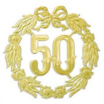 Jubileumcijfer 18cm Goud '50'
