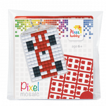 Pixelhobby Sleutelhanger Pixel Racewagen