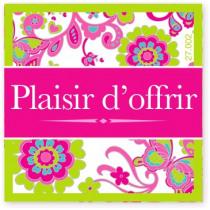 Wensetiket Plaisir D'OfFRir Bloem FR 18 Stuks