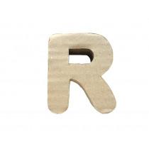 Letter R 7x8cm Papier Maché