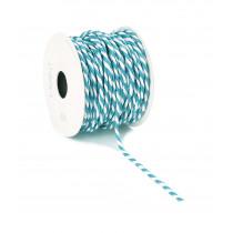 Lint Paper Twist 10m 4mm Diameter Wit/Blauw
