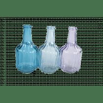 Flesvaasje Transparant/Lichtlauw/Blauw 12,7cm 6cm Diameter Assortiment