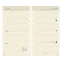 Brepols Agenda 170x95mm 6-Talig 7D/2P Vulling Calendarium Ivoor Brefax