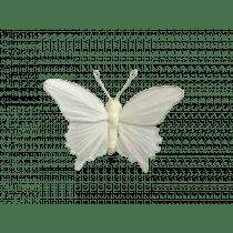 Clip 12x9x3,5cm Wit Papier Vlinder
