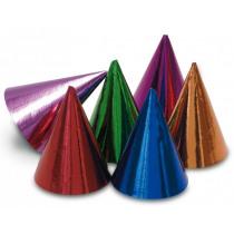 Feesthoedjes Metallic 15cm Multicolor 10 Stuks