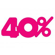 Signalisatie Roze 40%