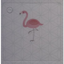 Naamkaartje 4X4Cm Flamingo 50 Stuks
