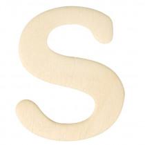 Houten Letter S 4cm