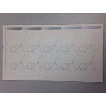 Naamkaartje 4X4Cm Zilver Olifant 50 Stuks