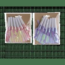 Fluit Plastiek Met Kwastjes 13cm Roze Of Lila