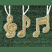 Décon De Sapin Or Clair Notes De Musique Foam Paillettes