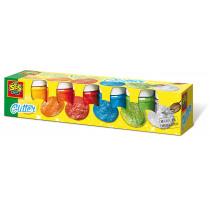 Plakkaatverf Glitter Multicolor 6 Stuks SES