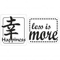Label Happiness / Less Is More 2 Stuks